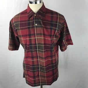Vintage Polo Ralph Lauren Plaid Shirt Red Medium